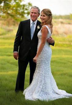 President Bush with his lovely daughter, Jenna Bush.
