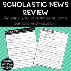 Free Scholastic News Review: Author's Purpose and Viewpoint