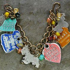 Retreasured boho vintage dog tag charm bracelet.