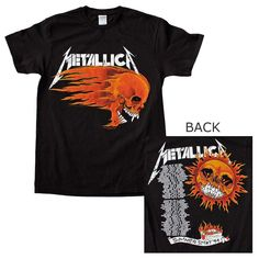 Metallica Flaming Sun T-Shirt