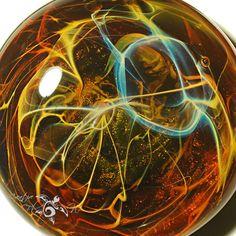 Earthy Energy Blown Glass Pendant by CreativeFlowGlass on Etsy  #glasswork #flamework #artwork #space #pendant #glass #handblown #jewelry #nebula #cluster #filaments