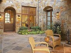 Outdoor Tuscan Style Decorating ༺༺  ❤ ℭƘ ༻༻
