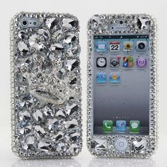 Style 011 This Bling case can be handcrafted for iPhone 4/4S, 5, 5S, and 5C. (Our professional designers will handcraft a case for you in as little as 2 weeks) Click image for direct link