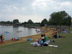 Cotswold Country Park and Beach.  This is a series of freshwater, manmade lakes and beaches in the middle of the Cotswolds.  We had a lovely day there.  The kids swam and had a go at Zorbing. The walk round the lake was lovely too.