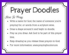 How to Pray with Prayer Doodles