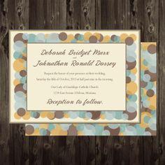 Printable Wedding Invitation DIY 5X7 Circles Digital by onered, $15.00