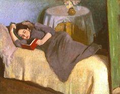 Berény, Róbert (1887-1953) Olvaso nö, 1916