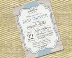Printable Baby Boy Shower Invitation Rustic Baby Shower Sip and See Baby Sprinkle Diaper Wipes Blue Grey, Any Colors, Any Event by SunshinePrintables on Etsy https://www.etsy.com/listing/180057999/printable-baby-boy-shower-invitation