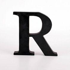 HOME Design :: Litery dekoracyjne czarne 18 cm, litera 1 szt.