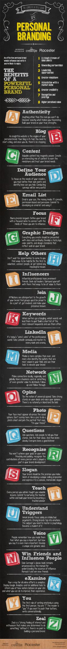 The complete A to Z guide to Personal Braqnding #infografia #infographic #marketing