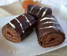 Rotolini di torta sacher ricetta golosa la famosa torta in rotolini monoporzione semplicemente golosa ma anche molto pratica