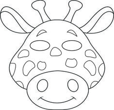 girafa animal masks Colouring Pages Safari Animal Crafts, Jungle Crafts, Giraffe Crafts, Zoo Crafts, Safari Animals, Kids Crafts, Kids Animals, Giraffe Art, Paper Crafts