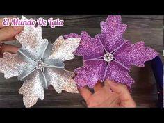 DIY: How to make Christmas tree flower ornaments / Christmas decoration / Decoracion para Navidad - YouTube