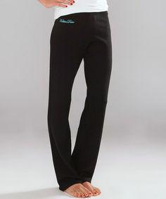 Look at this #zulilyfind! Black & Turquoise 'Hottin Daro' Cashmere Lounge Pants #zulilyfinds