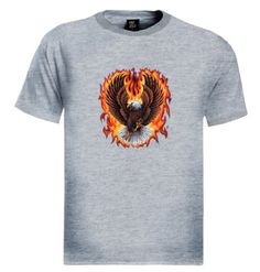 Eagle Flames T-Shirt Brand new 100% cotton standard weight t-shirt as shown in the picture. Express yourself through our t-shirts and make a statement. Add this item to your shopping cart by choosing the size and color you like.