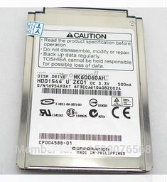 """NEW 1.8"""" CF/PATA (MK6006GAH) 60GB 4200RPM Hard Drive replace MK8007GAH MK4006GAH MK4004GAH for laptop IPOD, Free shipping"""