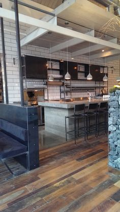 Butchertown Hall in Nashville, TN. Steel back bar, beer taps, bar stools and metal wall work by Back Bar, Beer Taps, Steel Wall, Building Ideas, Metal Walls, Nashville, Bar Stools, Store, Kitchen