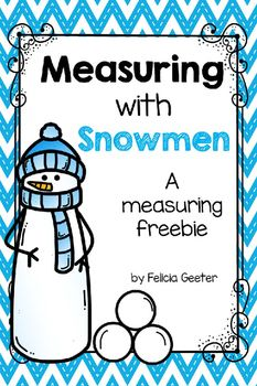 FREEBIE. This product was designed to help students practice the concept of measuring using standard and non-standard units of measurement. This product goes wonderfully with the story The Biggest Snowman Ever by Steven Kroll. Includes: :1 sheet of rulers, 1 non-standard measuring sheet, 2 standard measuring sheets 1 sheet of snowmen to measure. Download at: https://www.teacherspayteachers.com/Product/Measuring-with-Snowmen-2221906