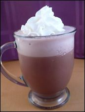 HG's Freakishy Good Frozen Hot Chocolate ~ i've made this from her first cookbook....and it's very easy and tastes awesome! a chocoholic's dream...only 58 calories a glass!