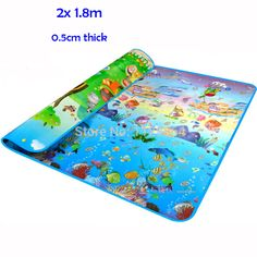 Double-Sided Baby Crawling Puzzle Play Mat, Blue Ocean EVA Foam Kids Gift Toy Children Carpet Outdoor Play Soft Floor Gym Rug Ocean And Zoo Animals printed It is soft, non-toxic with double side! A great space for babies and toddlers and families for crawling and gym activities. It is extra-large in size, With its attractive ...