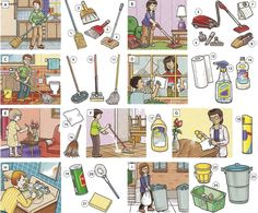 Cleaning your home or apartment vocabulary