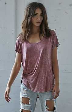 Mineral Wash Slouchy T-Shirt