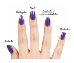 Com as dicas anteriores como base, você também pode variar o formato das unhas: