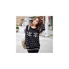 Snowflake Print Sweater