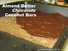Almond Butter No-Bake Chocolate Bars -- paleo if sugar is replaced with honey