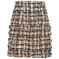Dolce & Gabbana Wool-Blend Tweed Miniskirt ($1,625) ❤ liked on Polyvore featuring skirts, mini skirts, multicoloured, colorful skirts, dolce gabbana skirt, tweed skirts, multi color skirt and multicolor skirt