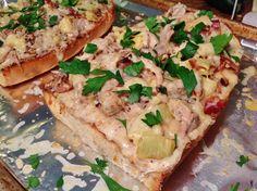 """""""Leftovers"""" Chicken Artichoke French Bread Pizza"""