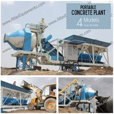 Portable #ConcreteMixer by Atlas is available in 4 models and in capacities 10 m3/hr. to 25 m3/hr. #MadeinIndia