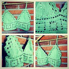 Boho carrot  Tops crochet - moda Uruguay - design by Valentina Nuin