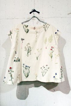 everlasting sprout ボタニカル刺繍プルオーバー