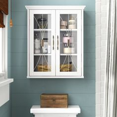 Whipple x H x D mural Armoire de Cabinet Above Toilet, Bathroom Cabinets Over Toilet, Wall Mounted Bathroom Cabinets, Bathroom Wall Storage, Bathroom Interior, Bathroom Organization, Bathroom Wall Ideas, Above The Toilet Storage, Bath Storage