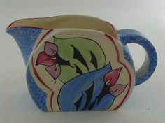 Superb Art Deco Clarice Cliff Small Bonjour Jug in Cowslip Pattern