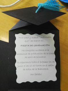 Tarjetas invitación graduación