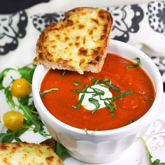 A classic American pairing: grilled cheese and tomato soup. Try this tasty version from Panning The Globe.