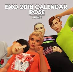 [Dyoreos] EXO 2018 CALENDAR Ah~ Just in time for EXO's comeback and right before the new years. To celebrate both their comeback and the upcoming new year, here's a group pose pack from their Black Bratz Doll, Sims 4 Gameplay, Sims 4 Characters, Group Poses, Sims 4 Cc Finds, The Sims4, Action Poses, Sims Cc, Comebacks