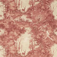 Discover the Mulberry Home Torridon Wallpaper - FG076.V92.0 Red / Sand £89 per roll. also in sand, grey, and beige