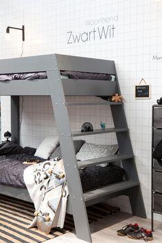 large ladder bunk bed