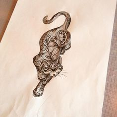 lace cat tattoo - Google-Suche