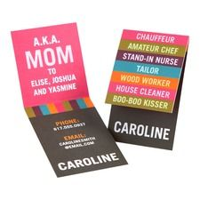 """Mommy """"contact"""" cards.... for playdates and such... Great Idea!"""