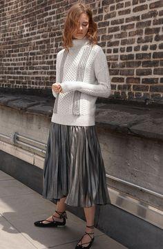 metallics + knits