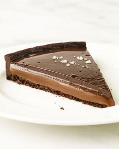 Chocolate Caramel Tarts. The pastry chef who designed this made this recipe into tartlets for her own wedding. Excellent idea for a shower or party.