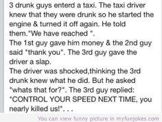 Funny jokes 3 drunk guys — funny short jokes one liners  -