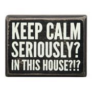 ''In This House'' Wooden Box Sign Art