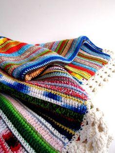 Color inspiration - crocheted scrap blanket (via melanieperalto28)