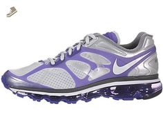 Nike Air Max+ 2012 Womens Running Shoes Pure Platinum/White-Pure Purple-Dark Grey 487679-015-7.5 - Nike sneakers for women (*Amazon Partner-Link)