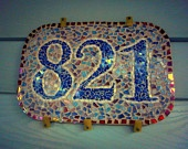 Mozaic House Numbers. $55.00, via Etsy. This Mosaic was Pinned By www.mosaicnumbers.com